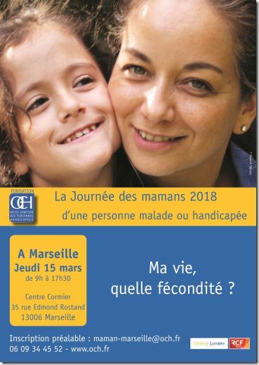 Journée des mamans d'une personne malade ou handicapée le 15 mars 2018 à Marseille (13)