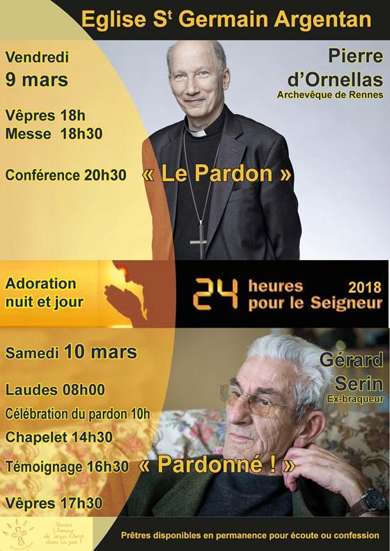 24H pour le Seigneur les 9 et 10 mars à Argentan (61) et à Flers (61)