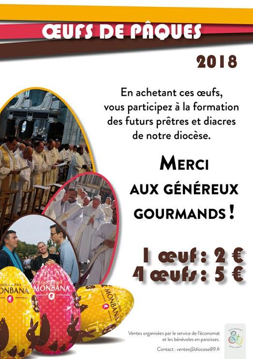 À Pâques, soutenir financièrement les séminaristes avec du chocolat dans le diocèse de Sens & Auxerre (89)