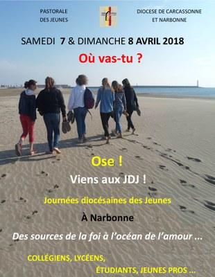 Rassemblement Diocésain des Jeunes à Narbonne (11) les 7 et 8 avril 2018