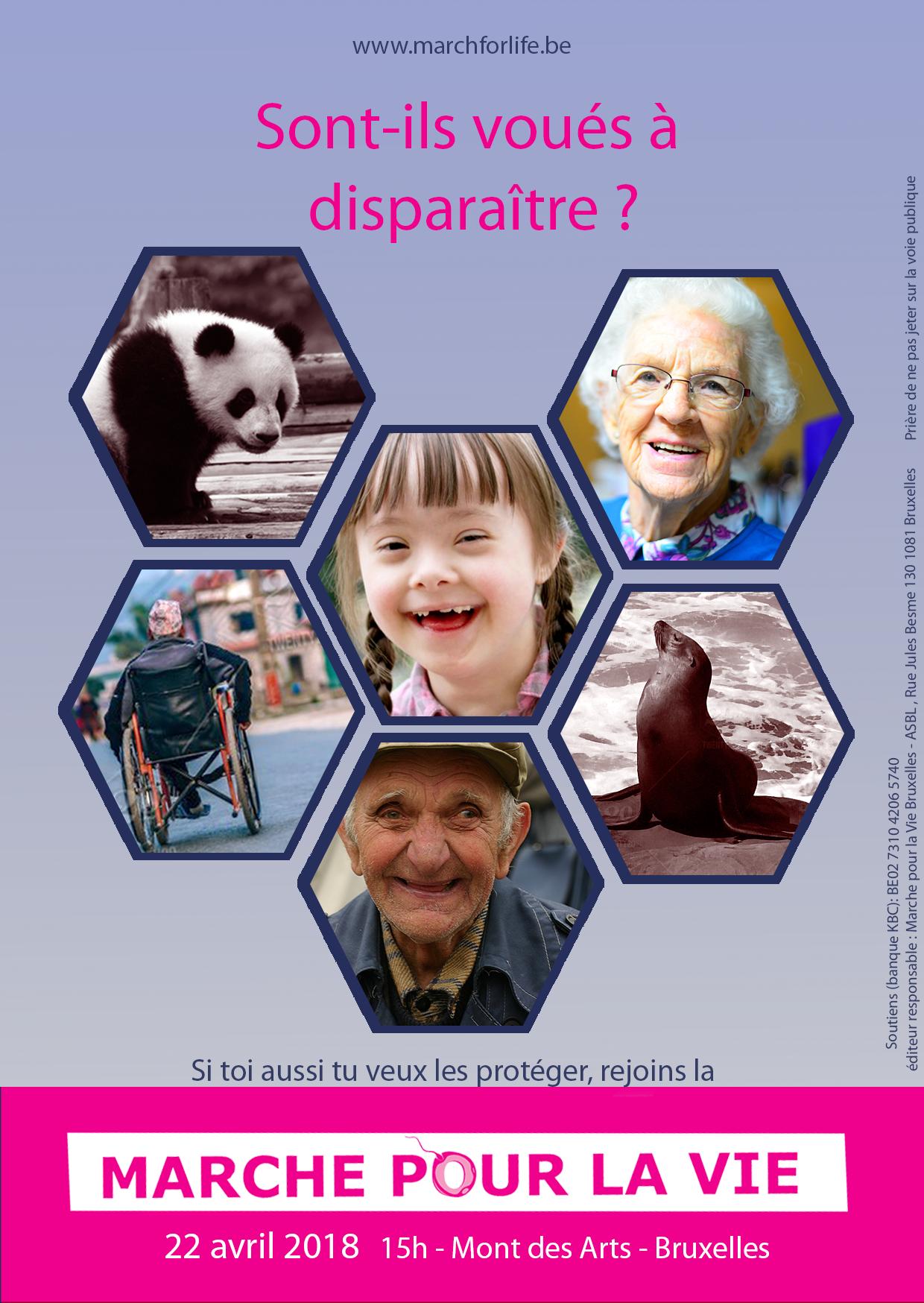 9e édition de la Marche pour la Vie à Bruxelles le 22 avril 2018
