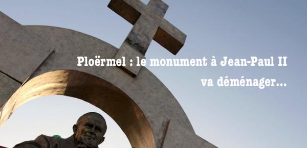 Ploërmel - La statue déplacée de quelques mètres, sera toujours visible de l'espace public et coûtera ....20 000 euros au diocèse