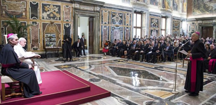 Des élus français à la rencontre du pape François