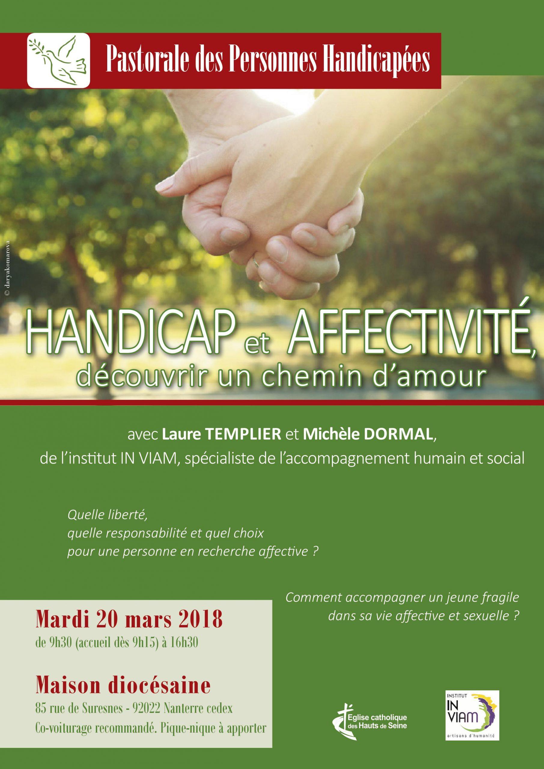 Handicap et affectivité – découvrir un chemin d'amour, le 20 mars à Nanterre (92)