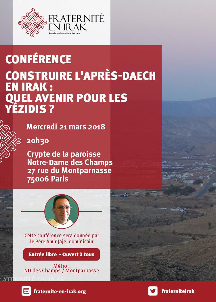 Quel avenir pour les Yézidis d'Irak? Conférence du P. Amir Jaje le 21 mars 2018 à Paris