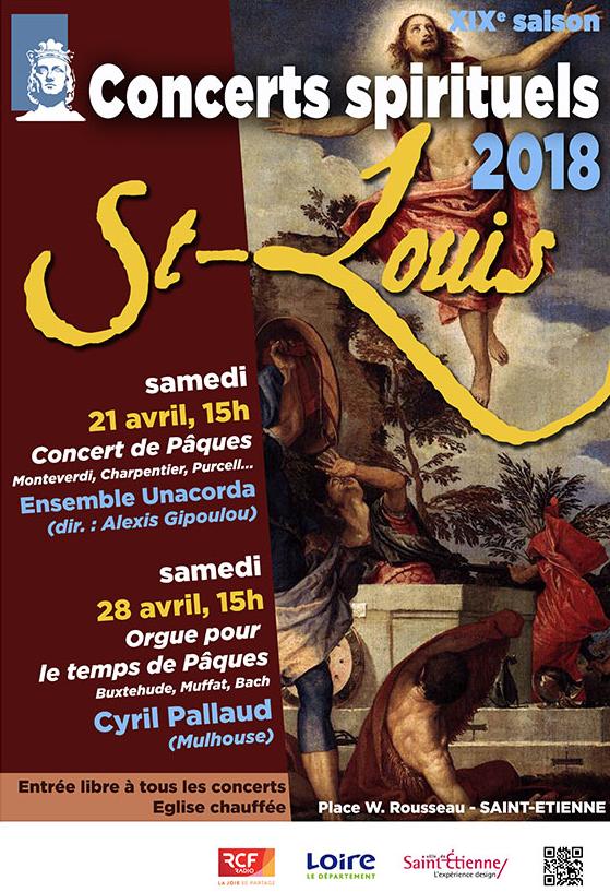 Concerts de l'association Renaissance de l'Orgue à Saint-Etienne (42) les 21 et 28 avril 2018
