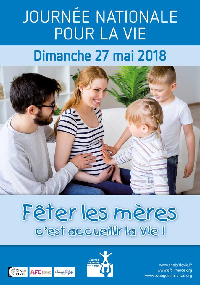 Journée Nationale pour la Vie: 27 mai 2018