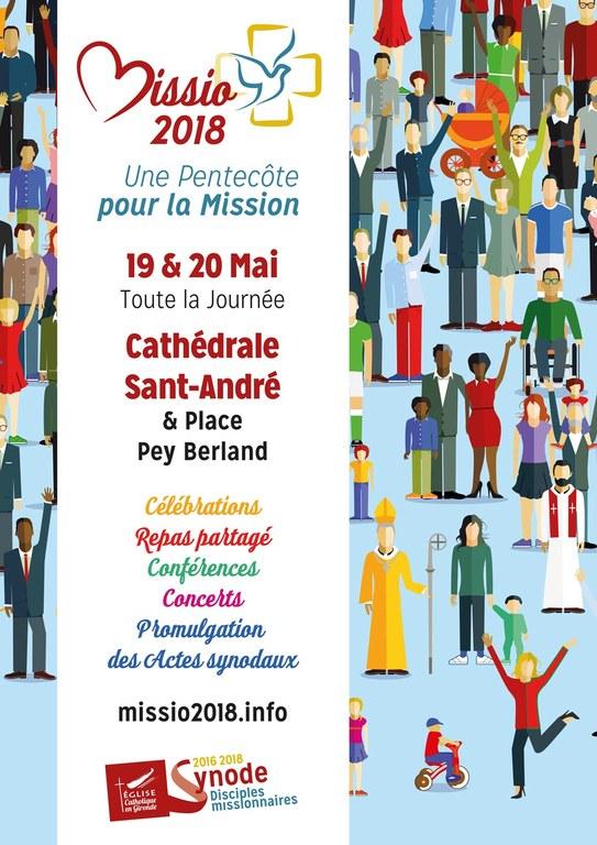 MISSIO 2018 à Bordeaux (33) les 19 et 20 mai 2018: Demandez le programme!