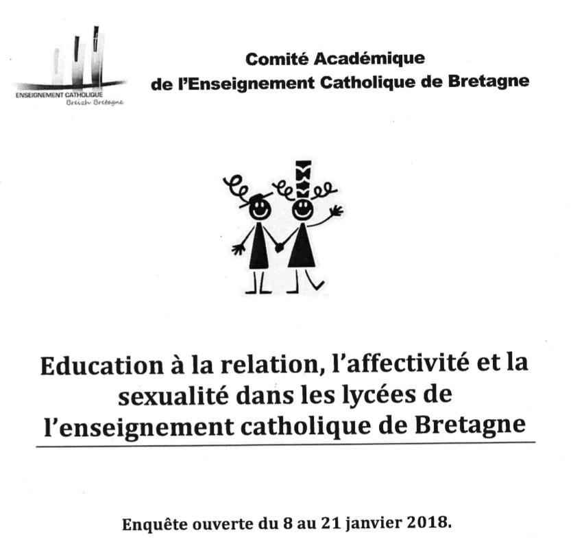 Le lobby gay intervient dans les écoles catholiques en Bretagne