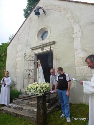 Pèlerinage à Notre Dame de Bellevue le 9 mai 2018 à Tronchoy (89)