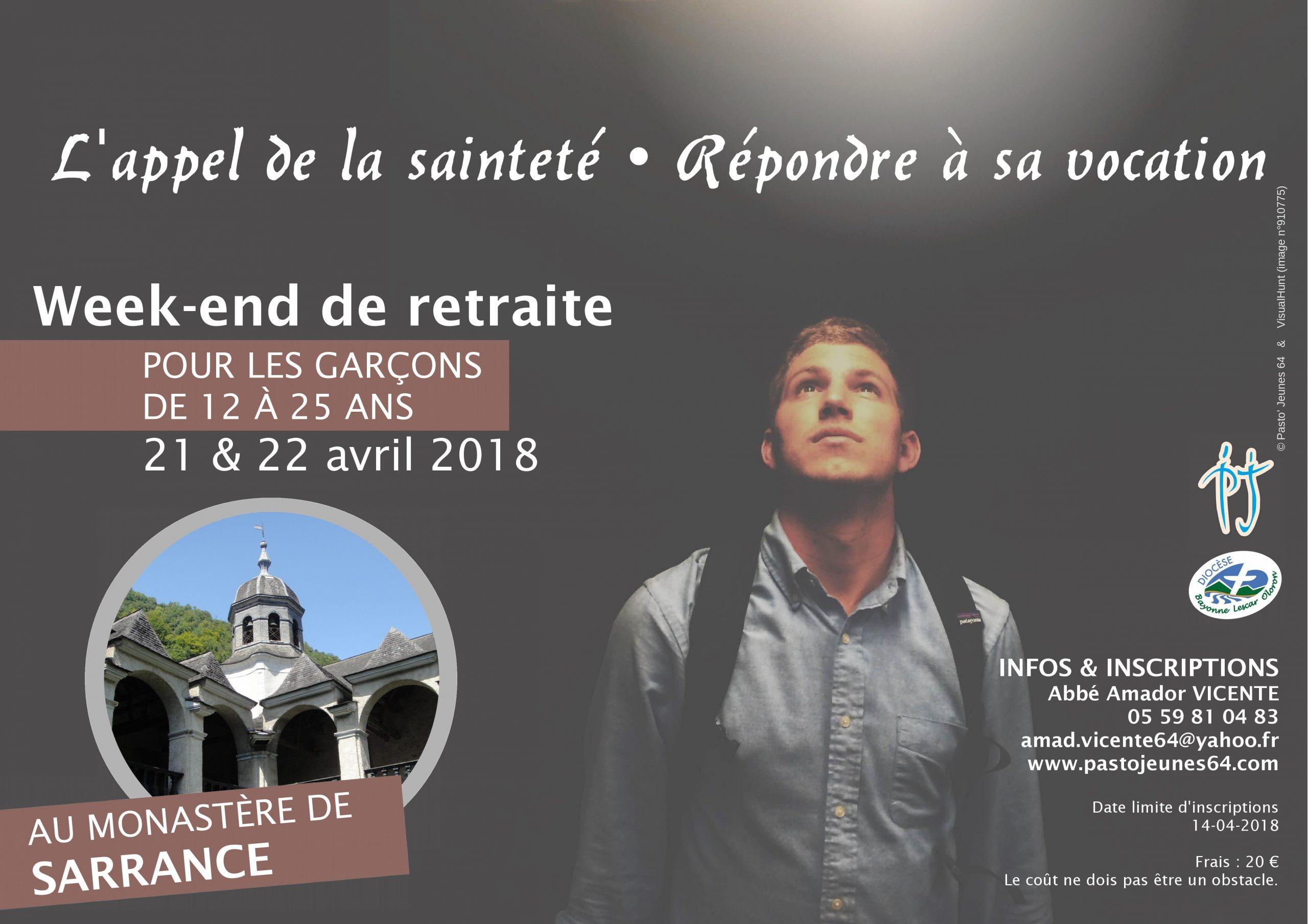 Week-end de retraite pour garçons les 21 et 22 avril 2018 à Sarrance (64)