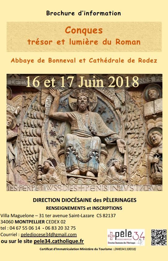 """Pèlerinage """"Conques, trésor et lumière du Roman"""" les 16 et 17 juin 2018 à Conques (12)"""