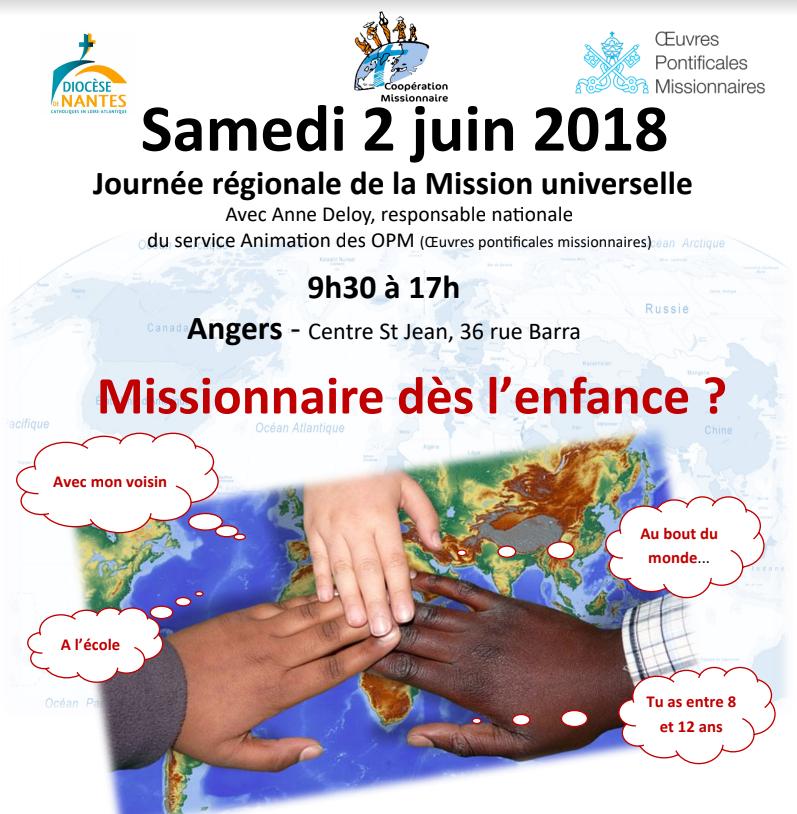 2 juin 2018: Journée régionale de la Mission universelle à Angers (49)