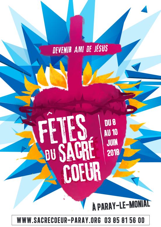 Fêtes du Sacré-Cœur à Paray-le-Monial (71) du 8 au 10 juin 2018