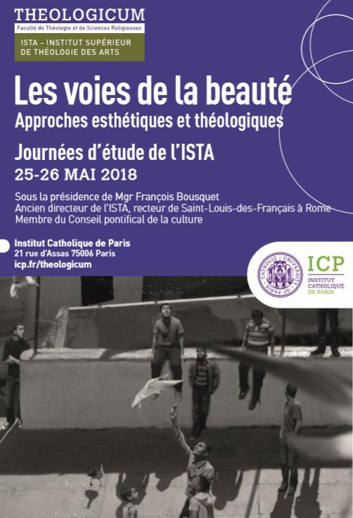 Les voies de la beauté – Journée d'étude de l'ISTA les 25 et 26 mai 2018 à Paris