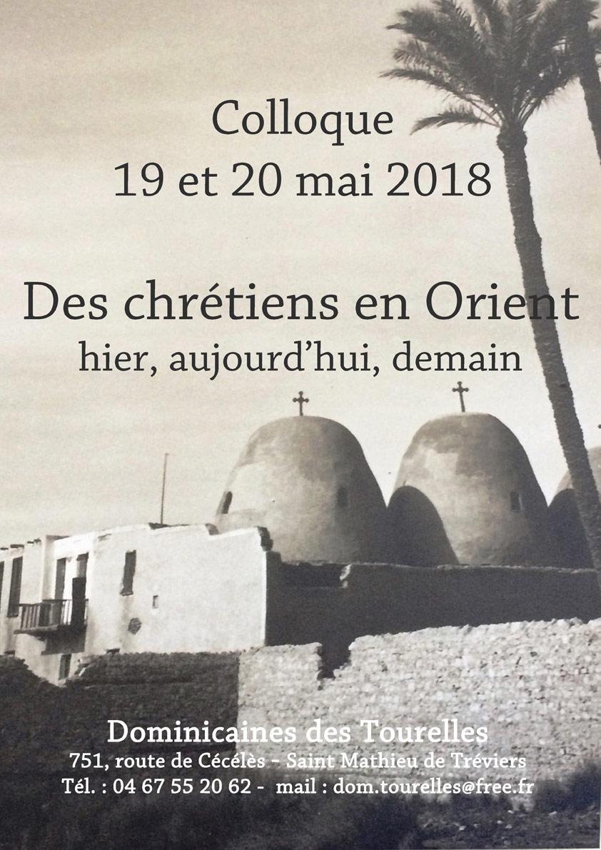 """Colloque """"Des chrétiens en Orient hier, aujourd'hui, demain"""" les 19 et 20 mai 2018 à Saint Mathieu de Tréviers (34)"""