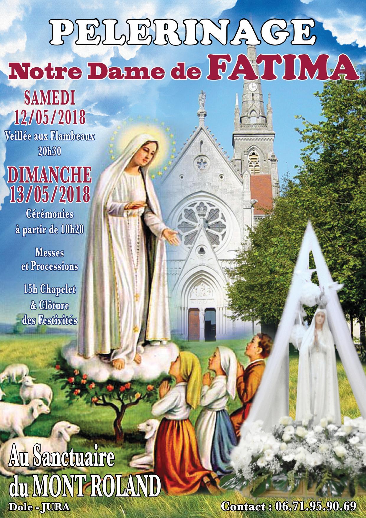 Pèlerinage Notre-Dame de Fatima des communautés portugaises au sanctuaire du Mont-Roland (39) les 12 et 13 mai 2018