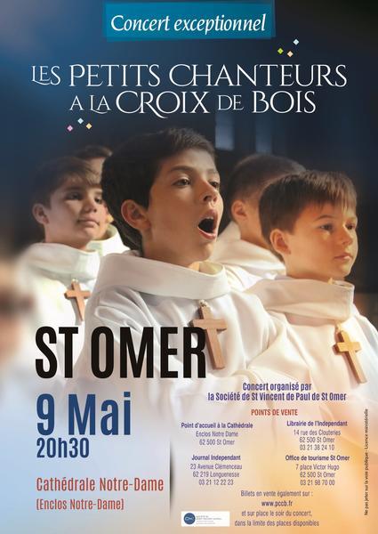 Concert solidaire des  Petits Chanteurs à la Croix de Bois à Saint-Omer (62) le 9 mai 2018