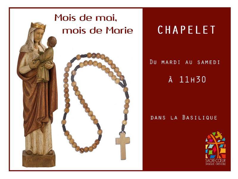 Chapelet pour la France du mardi au samedi du 2 au 31 mai 2018 à Grenoble (38)
