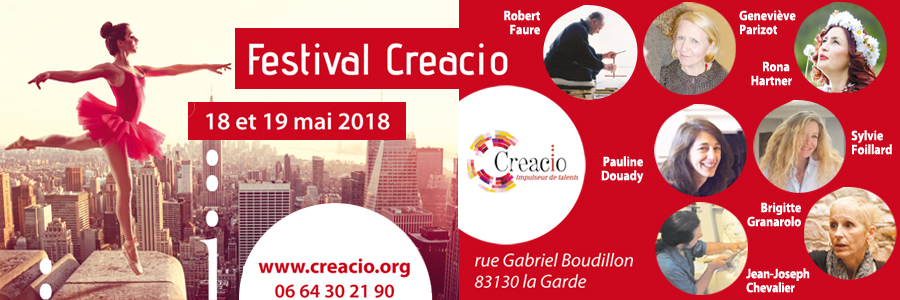 Festival Creacio les 18 et 19 mai 2018 à La Garde (83)