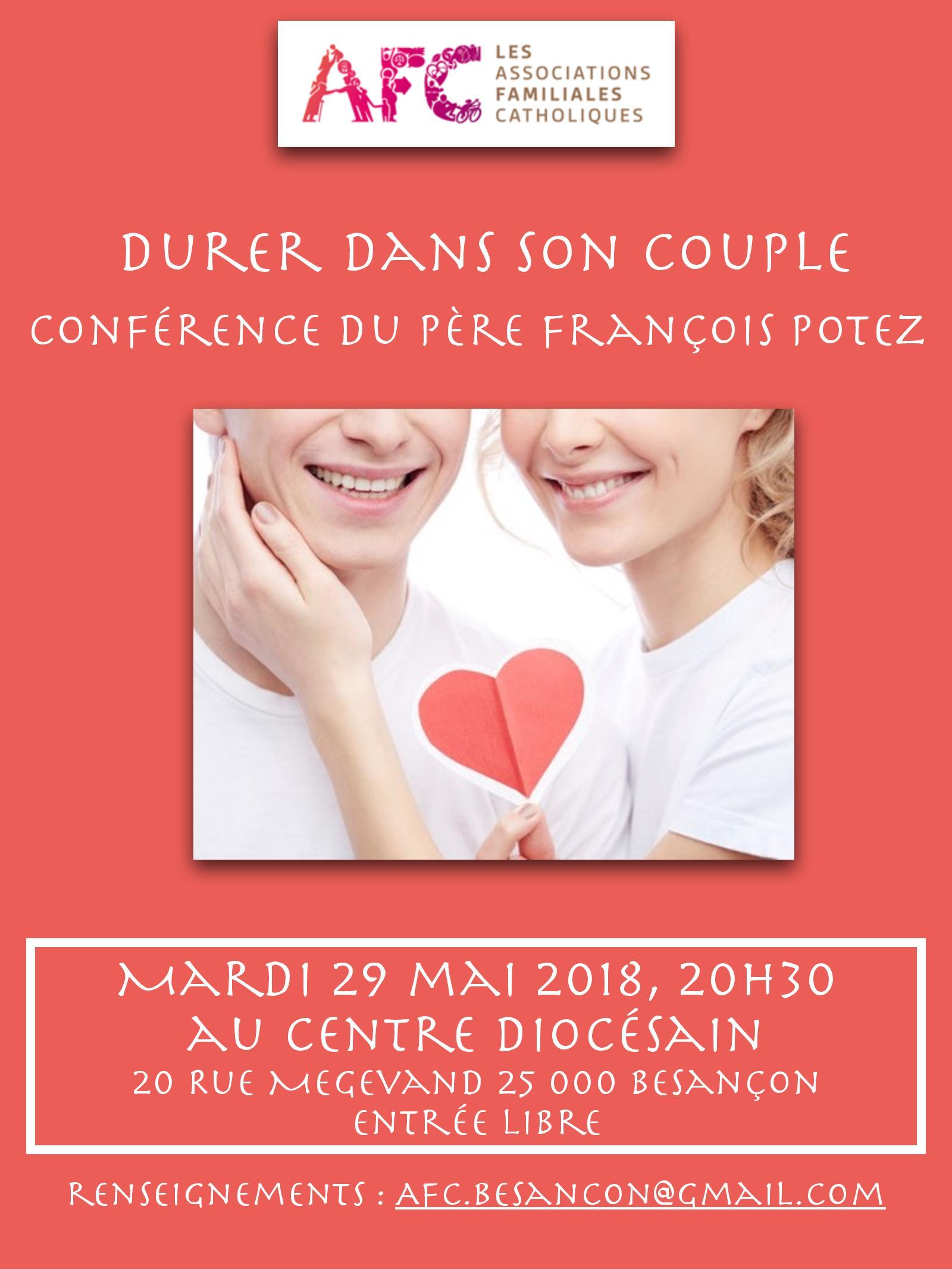 """""""Durer dans son couple"""" par le Père François Potez à Besançon (25) le 29 mai 2018"""
