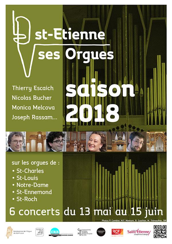 """Festival """"Saint-Etienne, ses orgues"""", saison 3 du 13 mai au 15 juin 2018 à Saint-Etienne (42)"""