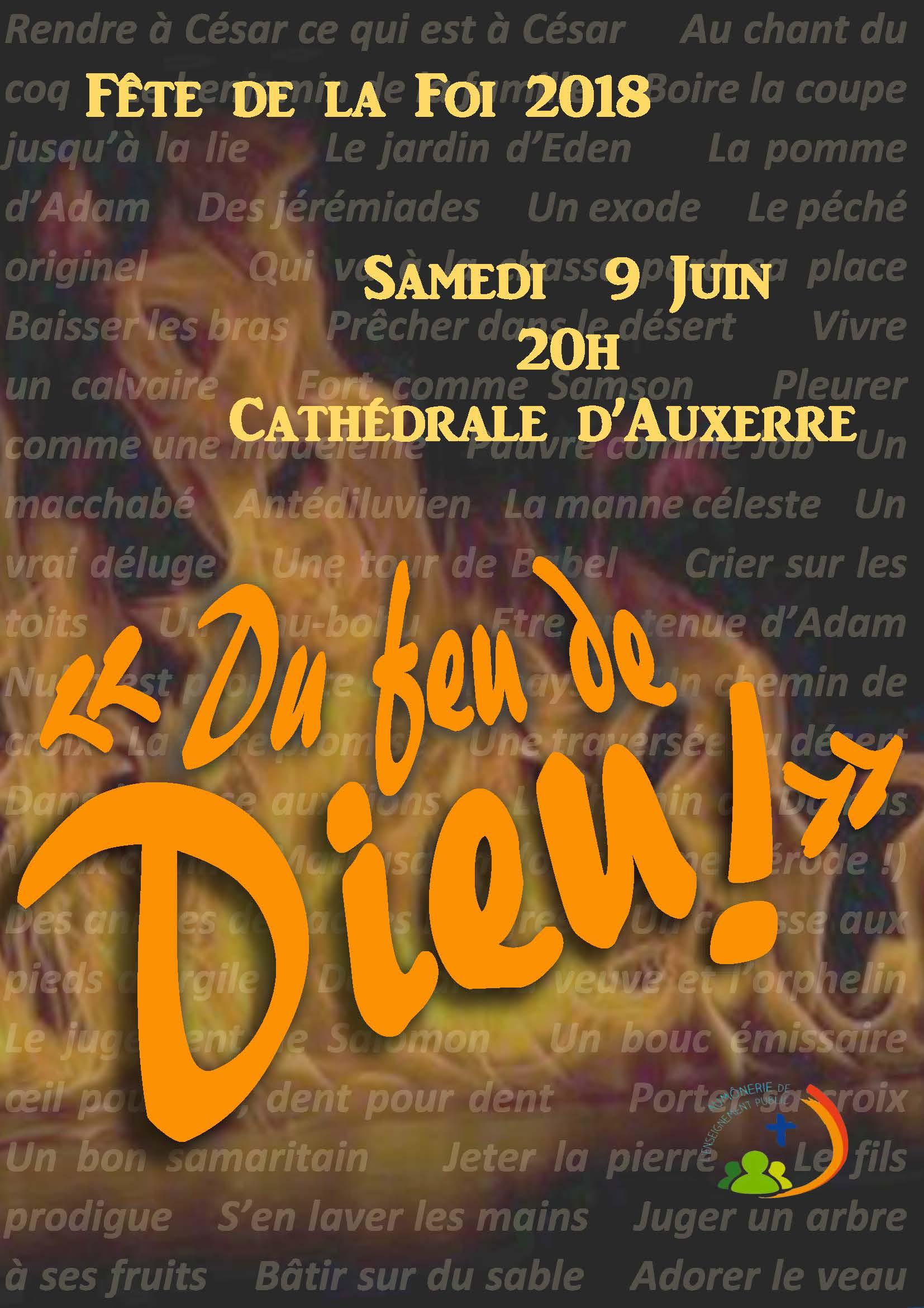 Fête de la Foi le 9 juin 2018 à Auxerre (89)