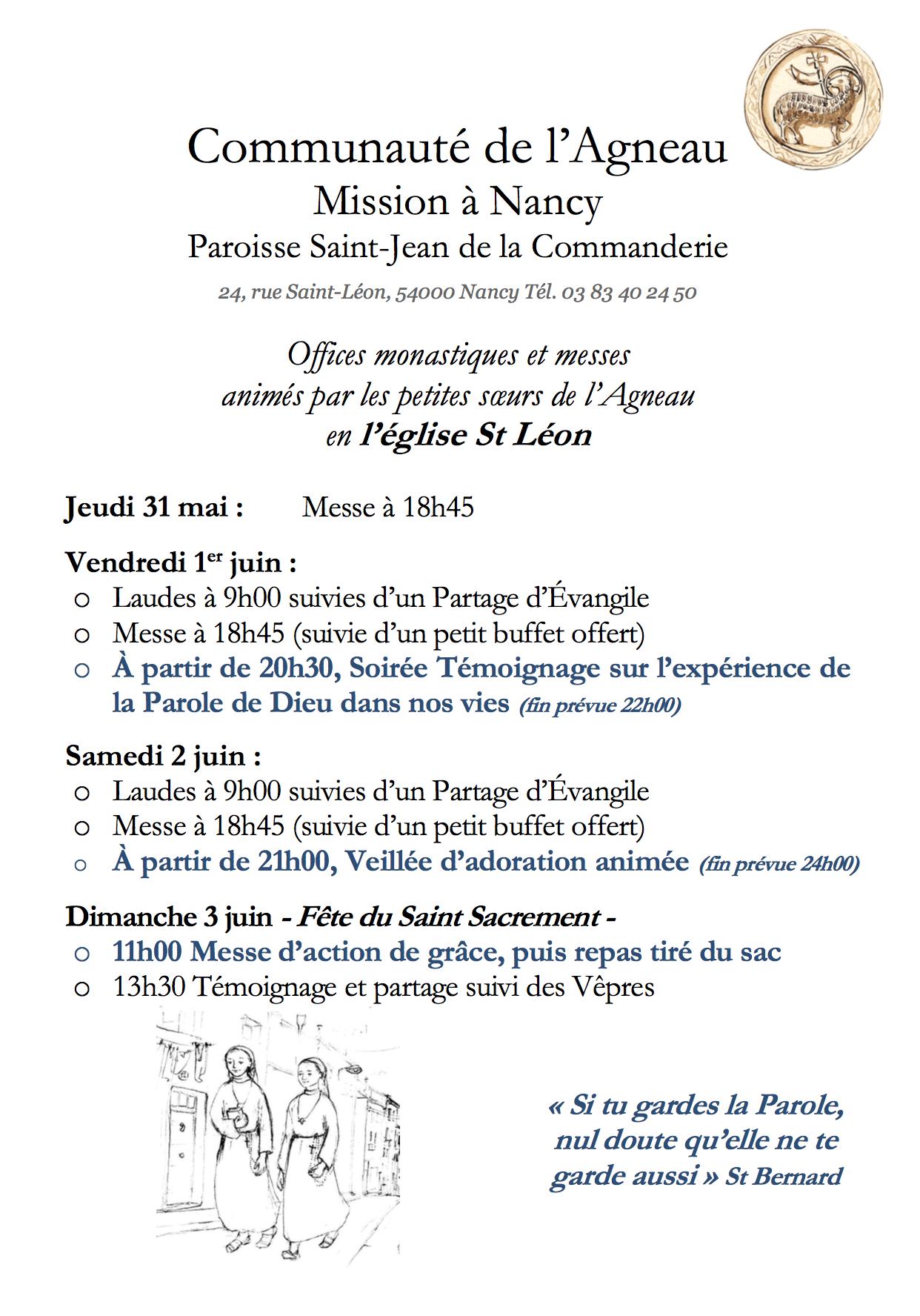 En mission à Nancy (54) du 31 mai au 3 juin 2018