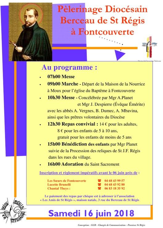 Pèlerinage Saint Jean-François Régis le 16 juin 2018 à Fontcouverte (11)