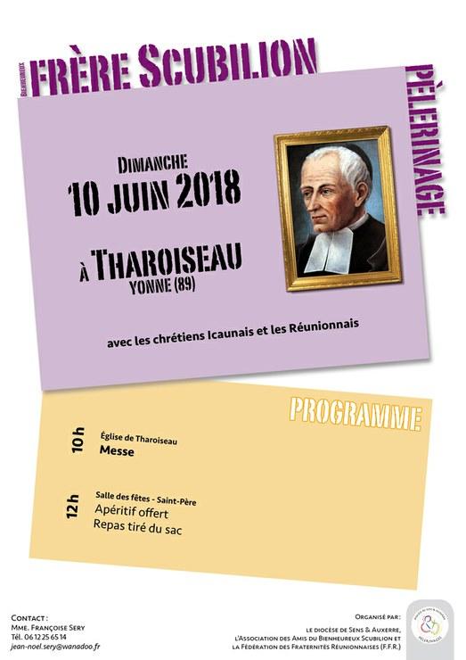 Pèlerinage Bienheureux Scubilion le 10 juin 2018 à Tharoiseau (89)