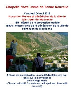 Procession mariale et bénédiction de la ville de St Jean de Maurienne (73) le 4 mai 2018
