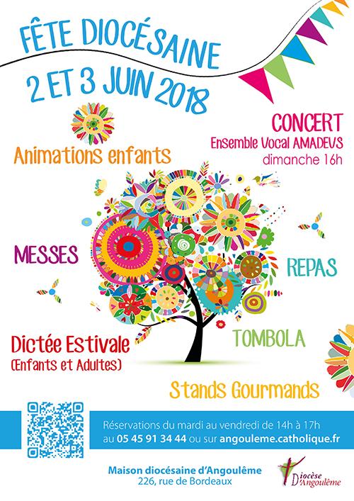 Fête du diocèse d'Angoulême (16): 2 et 3 juin 2018