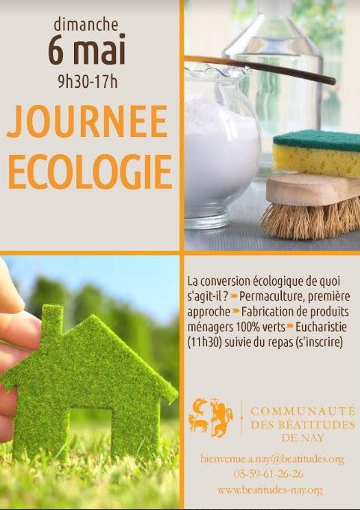 """Journée """"conversion écologique"""" avec la communauté des Béatitudes de Nay (64) le 6 mai 2018"""