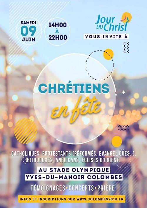 Chrétiens en fête – le 9 juin 2018 à Colombes (92)