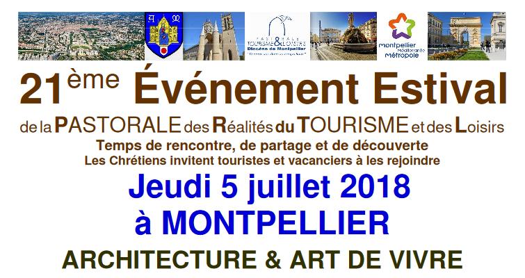 21ème évènement Estival de la Pastorale du tourisme et des loisirs, le 5 juillet 2018 à Montpellier (34)