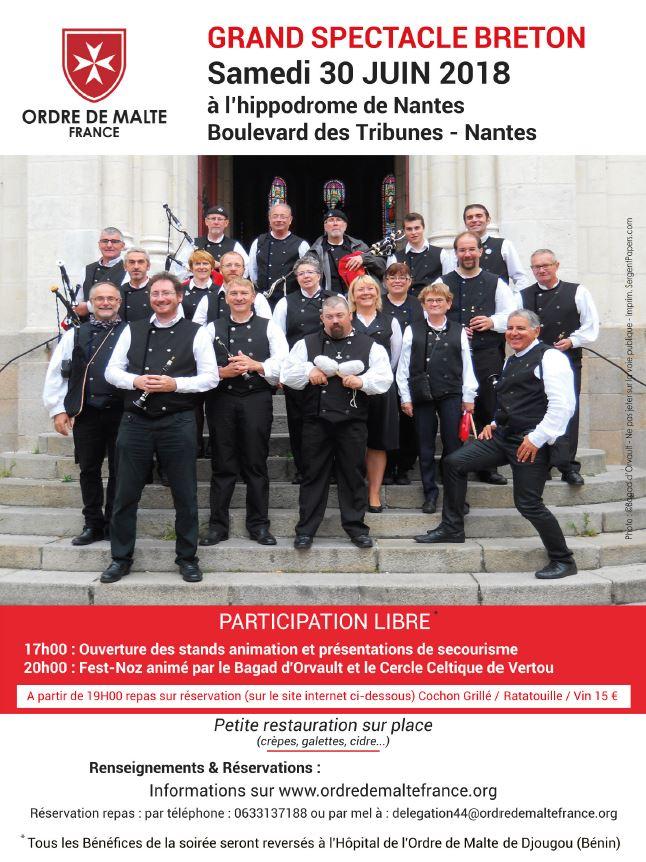 30 juin 2018: Manifestation festive de l'Ordre de Malte à Nantes (44)