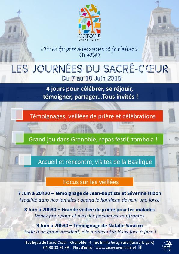 Les journées du Sacré-Coeur du 7 au 10 juin 2018 à Grenoble (38)