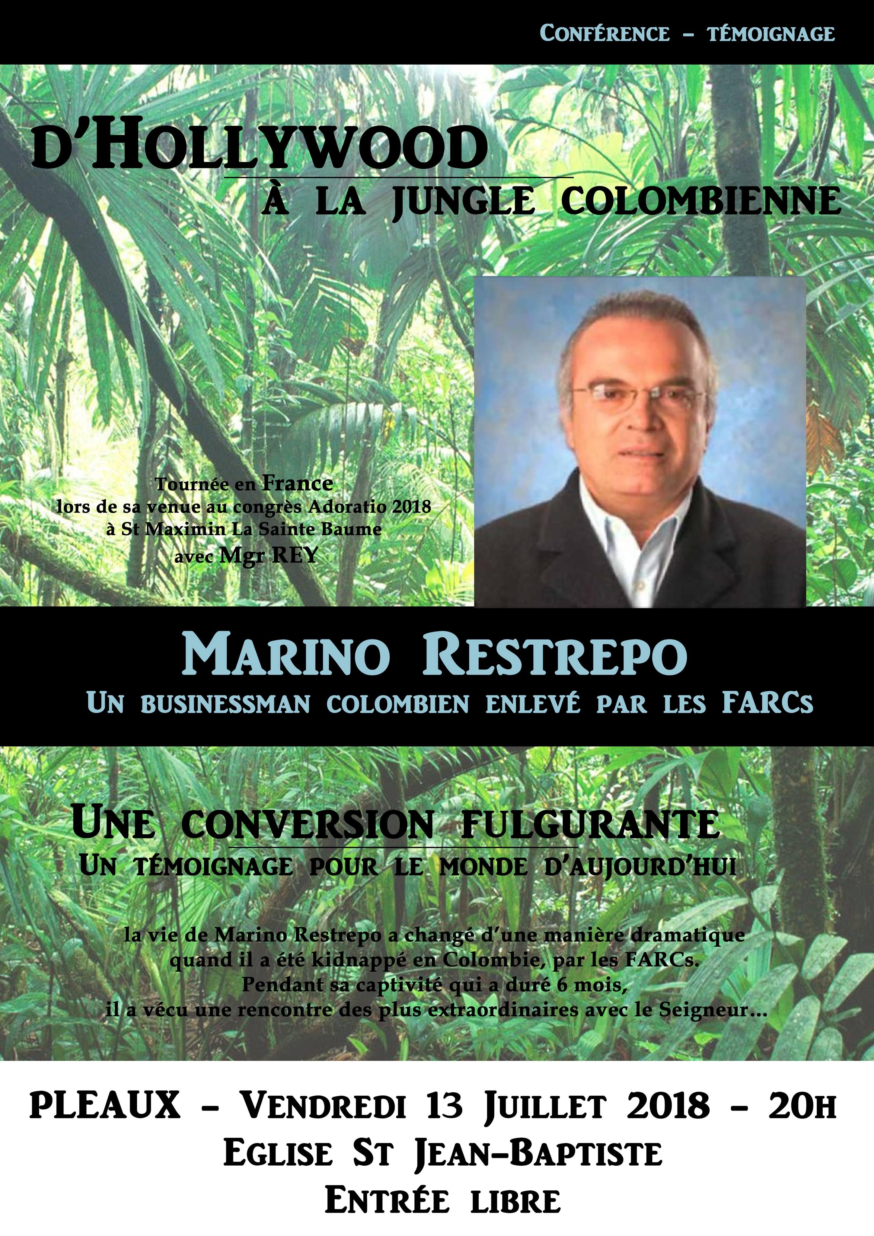 D'Hollywood à la jungle colombienne – Témoignage de Marino Restrepo le 13 juillet 2018 à Pleaux (15)