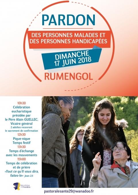 Pardon des personnes malades et des personnes handicapées le 17 juin 2018 à Rumengol (29)