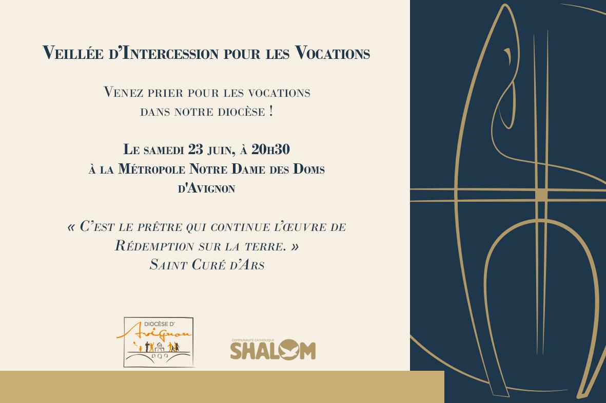 Veillée d'intercession pour les vocations le 23 juin 2018 à Avignon (84)