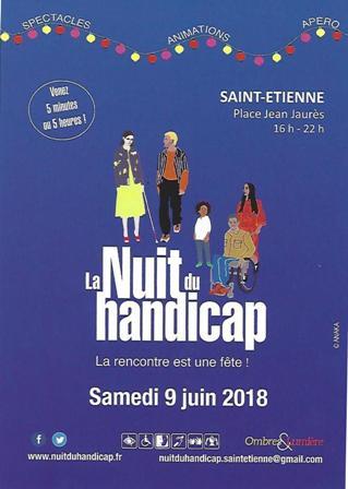 """Foi et Lumière vous invite à """"La nuit du handicap"""" le 9 juin 2018 à Saint-Etienne (42)"""