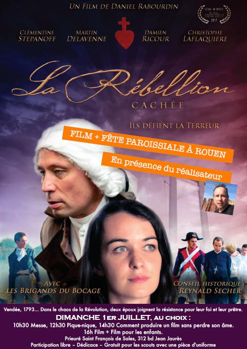 Projection du film La rébellion cachée en présence du réalisateur à Rouen (76) le 1er juillet 2018
