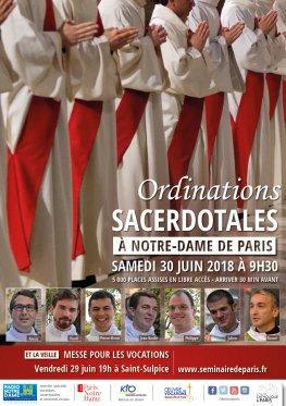 Ordinations sacerdotales 2018 à Notre-Dame de Paris le 30 juin