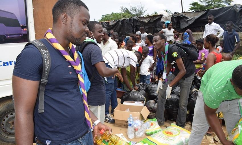 Côte d'Ivoire: les Scouts à la rescousse des victimes des inondations