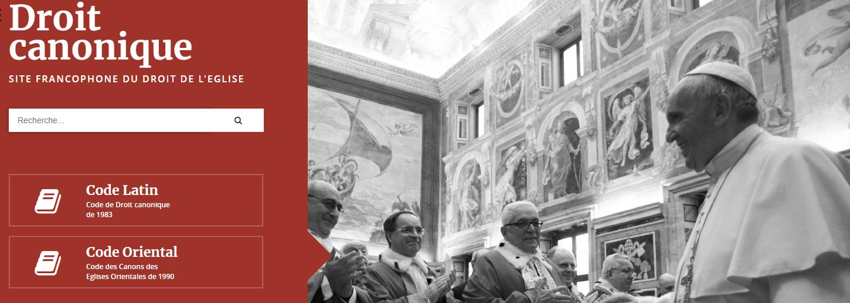Un site de référence sur le droit canonique