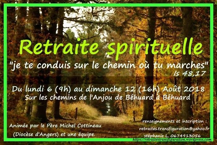 Retraite itinérante sur les chemins de l'Anjou du 6 au 12 août 2018 à Béhuard (49)
