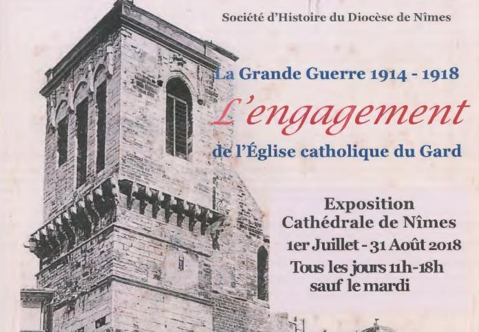 Exposition sur la Grande Guerre cet été à la cathédrale de Nîmes (30) jusqu'au 31 août 2018