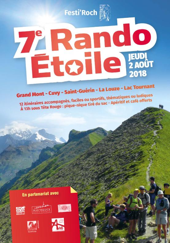 7ème Rando Etoile le 2 août 2018 au Grand Mont (73)