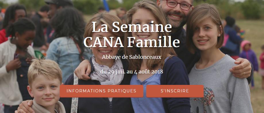 Retraite Cana famille du 29 juillet au 4 août 2018 à l'Abbaye de Sablonceaux (17)