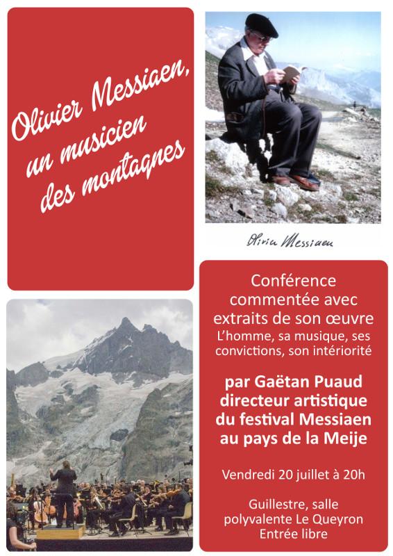 Olivier Messiaen, un musicien des montagnes – conférence le 20 juillet 2018 à Guillestre (05)